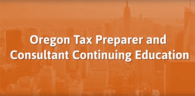 Oregon Tax Preparer Continuing Education Commercial